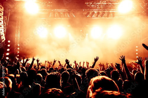 cheering crowd at concert - 72958777