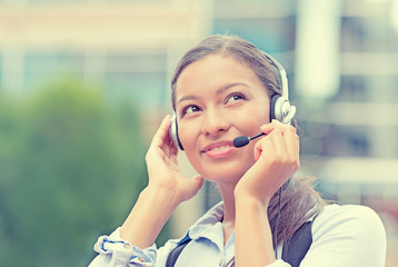 customer service representative, call center agent on phone