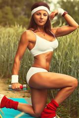 Woman sports training