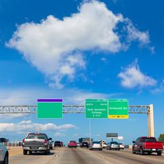 Houston Katy Freeway Fwy in Texas USA