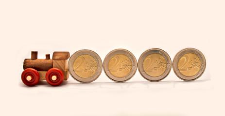 train coins