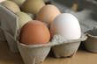 Leinwanddruck Bild - Farm Fresh Eggs in Carton