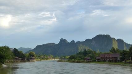 Vang Vieng riverside scenery