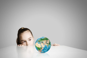 Child and Earth planet