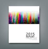 Cover report colorful square pattern design