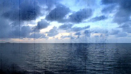 Grunge Overlay Time Lapse Ocean view Florida Keys