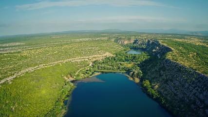 Brljan lake, aerial