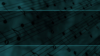 Template Style Music Notes Loop