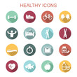 healthy long shadow icons