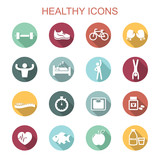 Fototapety healthy long shadow icons