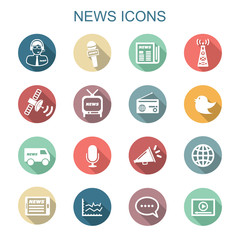 news long shadow icons