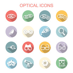 optical long shadow icons