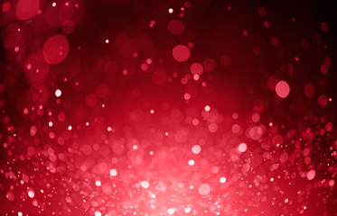 red bokeh lights background