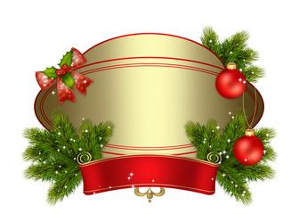 новогодний, рождественский золотой фон с шарами