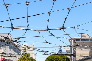 Electrics cables over San Francisco