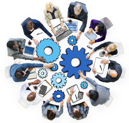 Business People in Meeting Photo Illustration