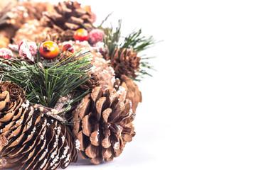 Christmas wreath made of natural materials
