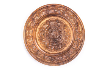 Wood Carving on a round plate