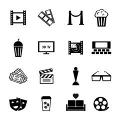 Black and White Movie Icon Designs