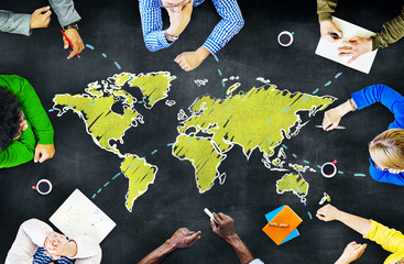 People Blackboard Global Communications Concepts