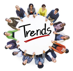 Diverse People Holding Hands Trends Concepts