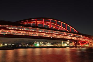 神戸港と神戸大橋