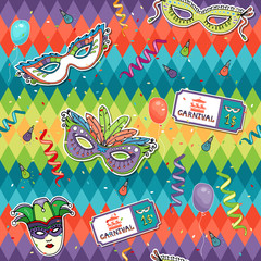 Colorful geometric Carnival background