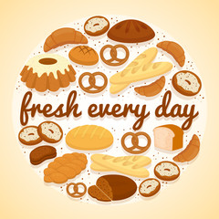 Fresh Every Day bakery label
