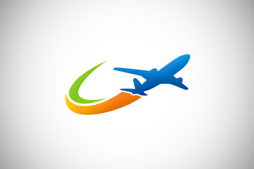 travel airplane business logo vector