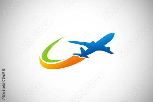 travel airplane business logo vector - 72965785