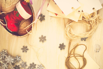 Christmas preparation handmade (scrap) Christmas decorations