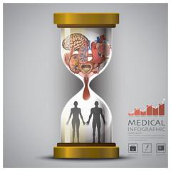 Sandglass Health And Medical Human Organ Infographic