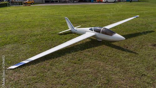 Leinwanddruck Bild Segelflugzeug - Modellsegelflugzeug - Modellflug - Segelflugzeug