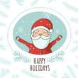 Christmas Santa Greeting card