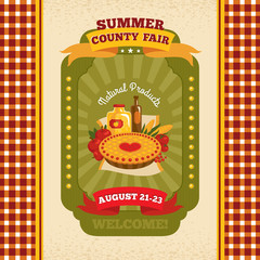 County fair vintage invitation card