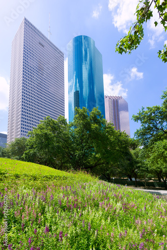 Foto op Canvas Texas Houston skyline from Tranquility Park in Texas US