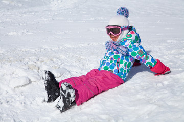 girl on snow