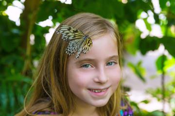 Girl butterfly head Rice Paper Idea leuconoe