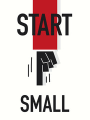 Word START SMALL