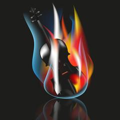 Violin vector concept