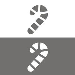 Icono bastón de caramelo BN