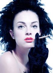 Glamourgirl rauchend