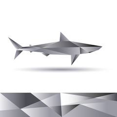 Shark cubist abstract vector portrayal