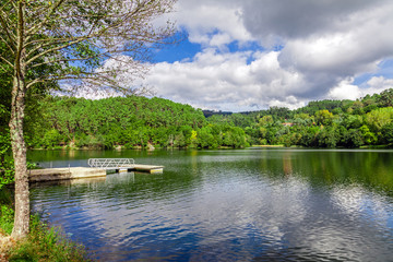 Lake and forest in Minho, Portugal