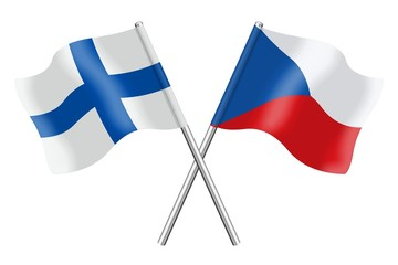 Flags: Finland and Czech Republic