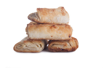 four rolls with jam isolated