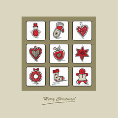 Greeting card with Christmas gingerbreads