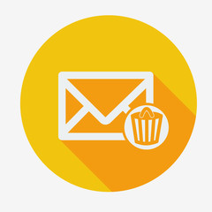 Single flat icon, email icons design.