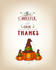 grateful and thanksgiving greeting card
