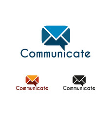 Communicate logo template